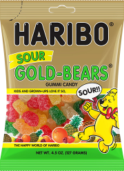Sour Gold Bears 4.5 oz