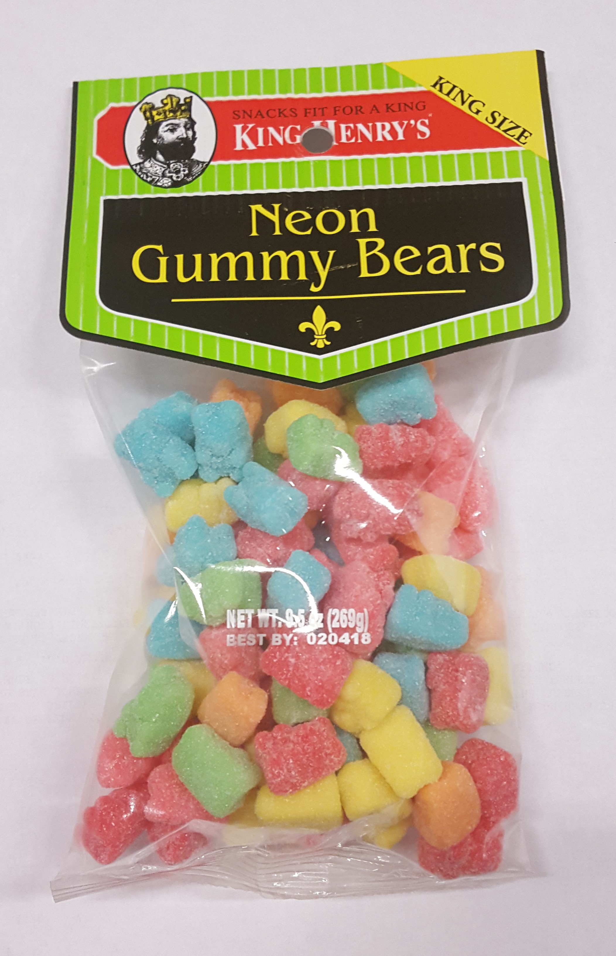 King Henry's Neon Gummy Bears