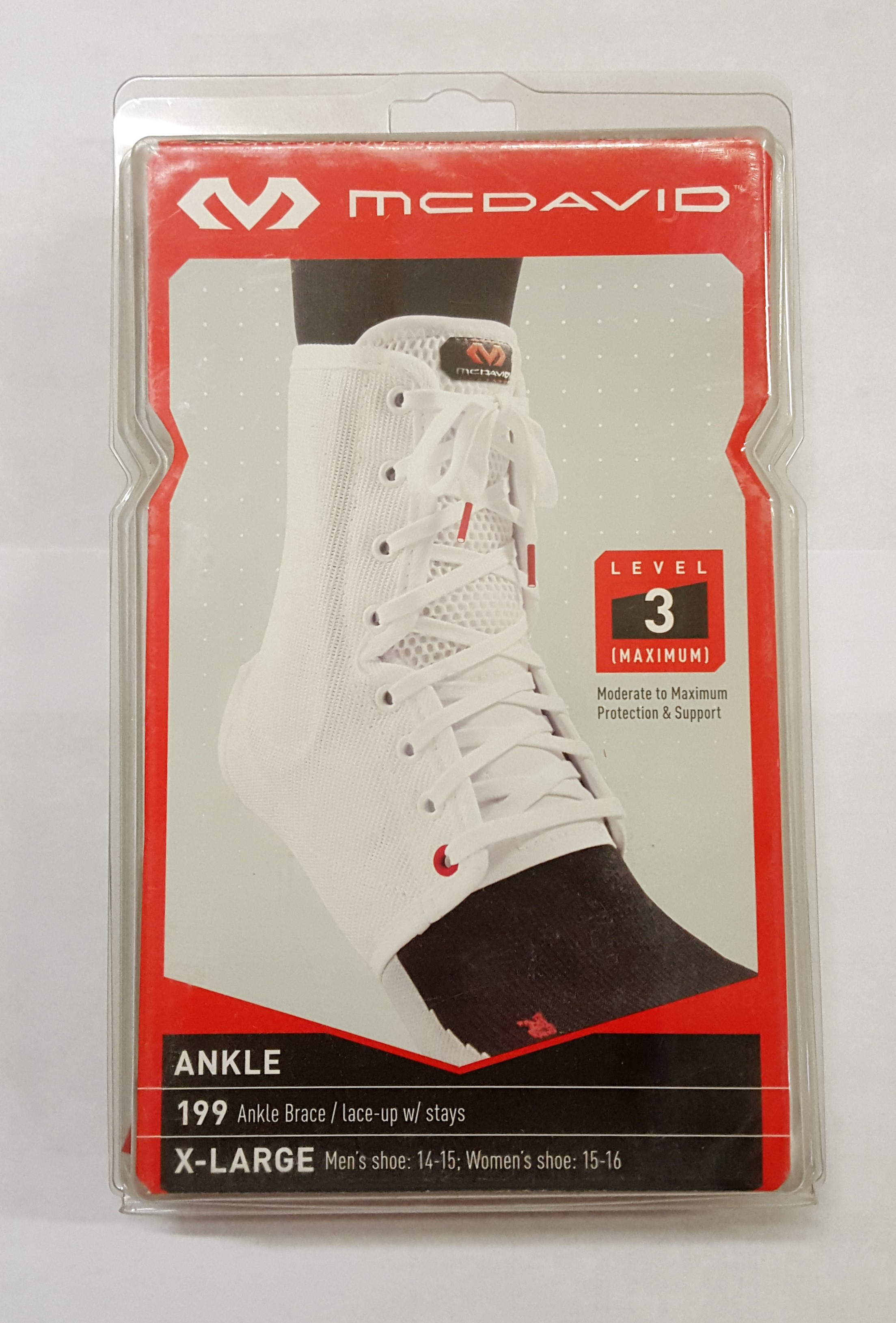 McDavid Ankle Brace White Small 199RS
