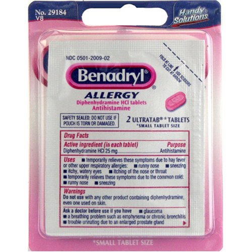 Benadryl 2ct 29343 - 6 pack