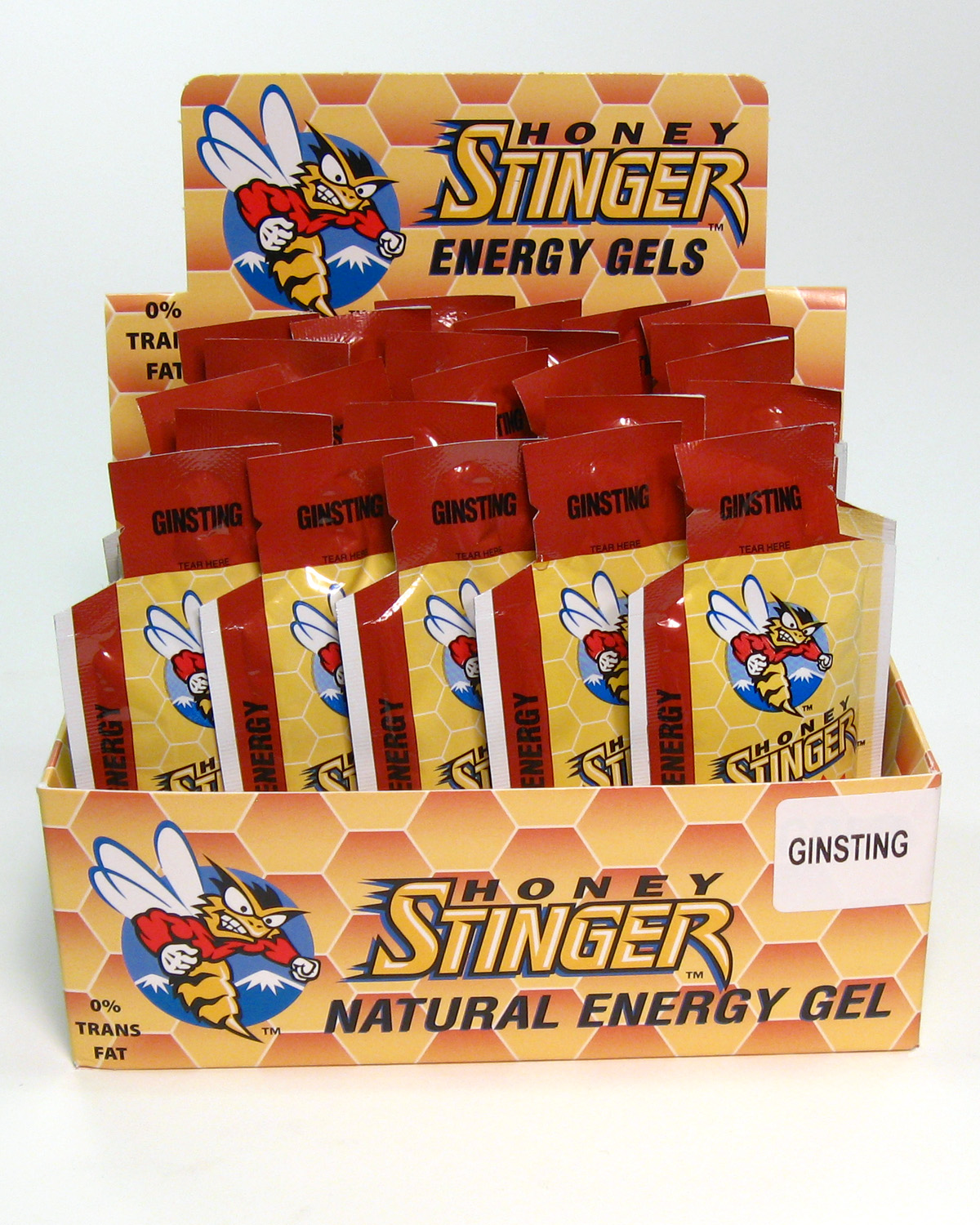 Honey Stinger Energy Gels Ginsting - 24ct
