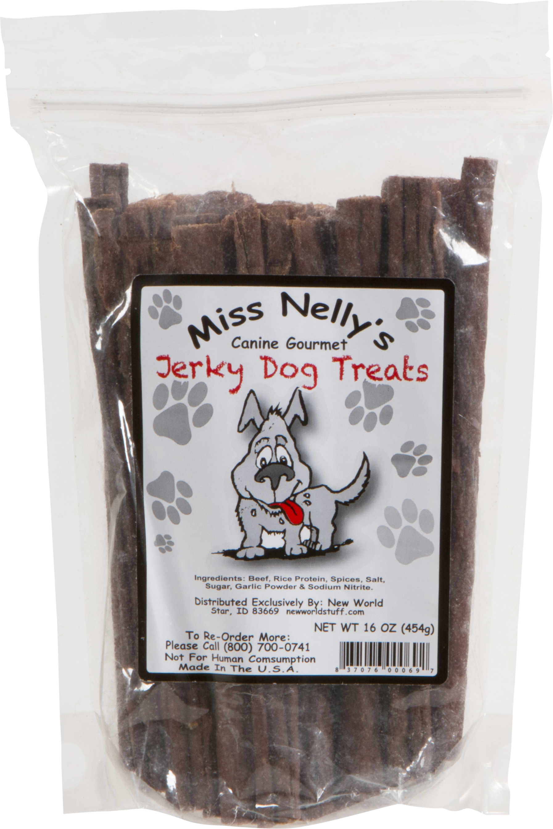 Miss Nelly's Dog Jerky Beef - 1lb