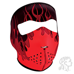 Red Flames Mask