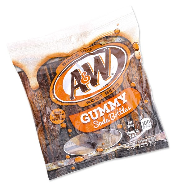 A&W Gummy Soda Bottles - 6ct
