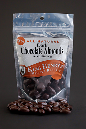 King Henry's Natural Dark Chocolate Almonds