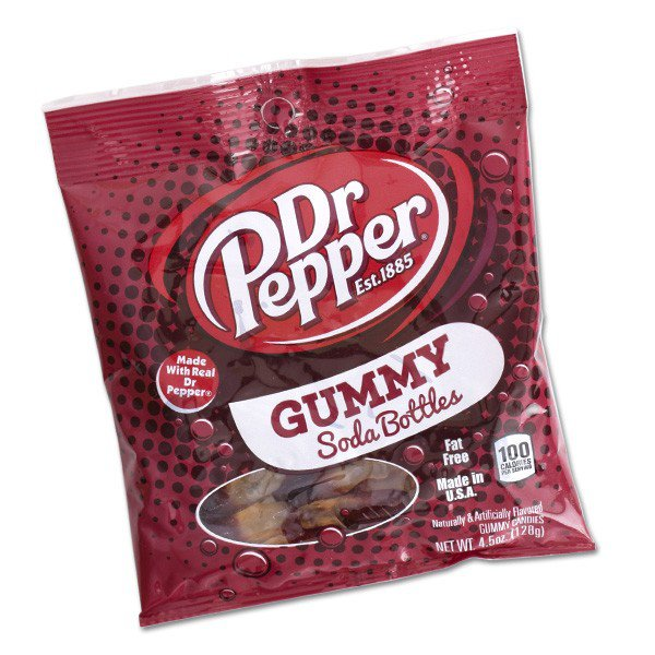 Dr. Pepper Gummy Soda Bottles - 6ct
