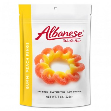 Albanese Peach Rings - 6ct