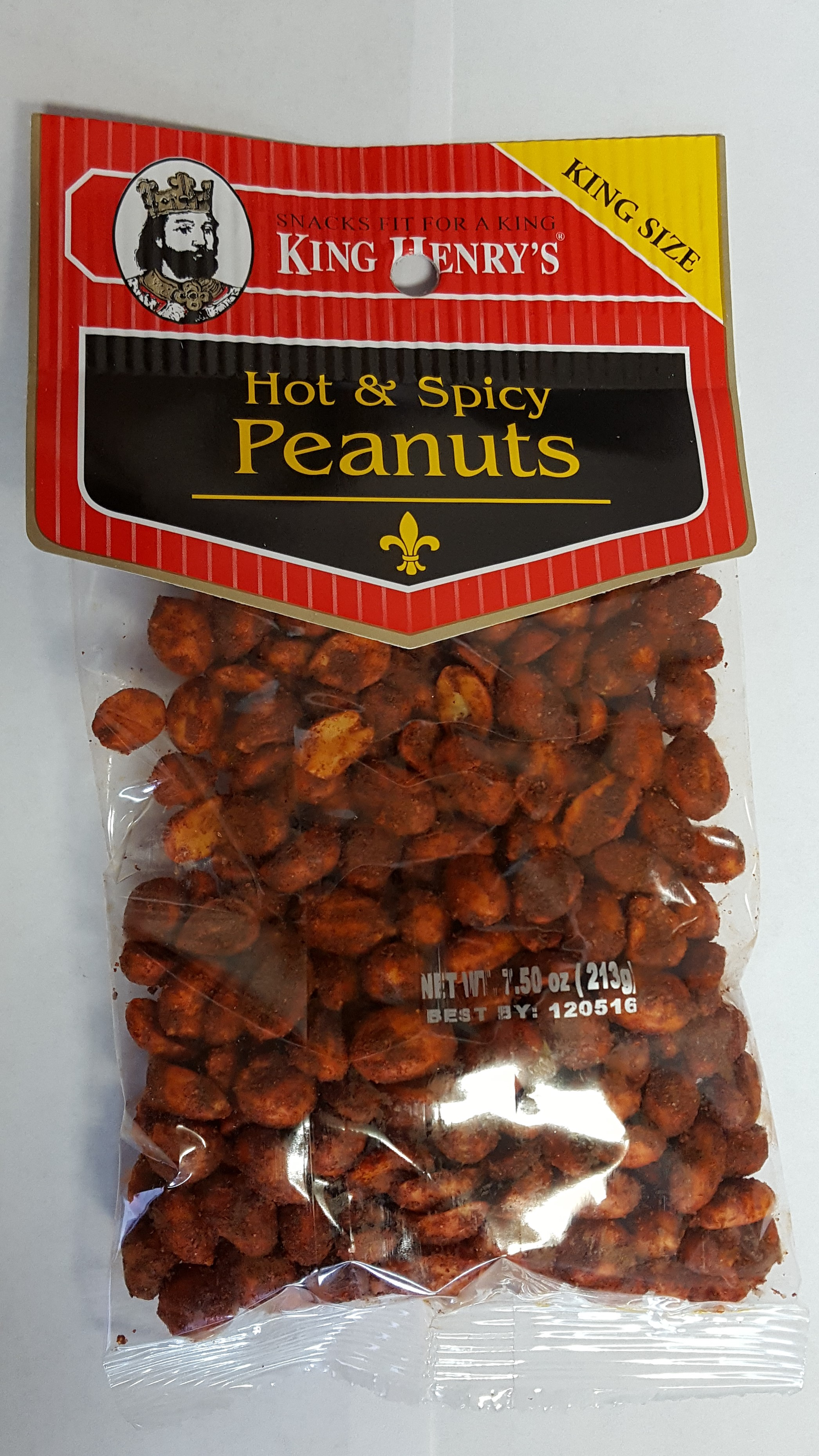 King Henry's Peanuts Hot & Spicy