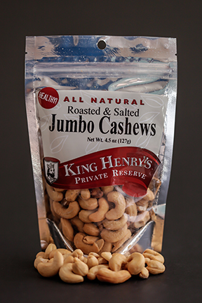 King Henry's Natural Salted Jumbo Cashews