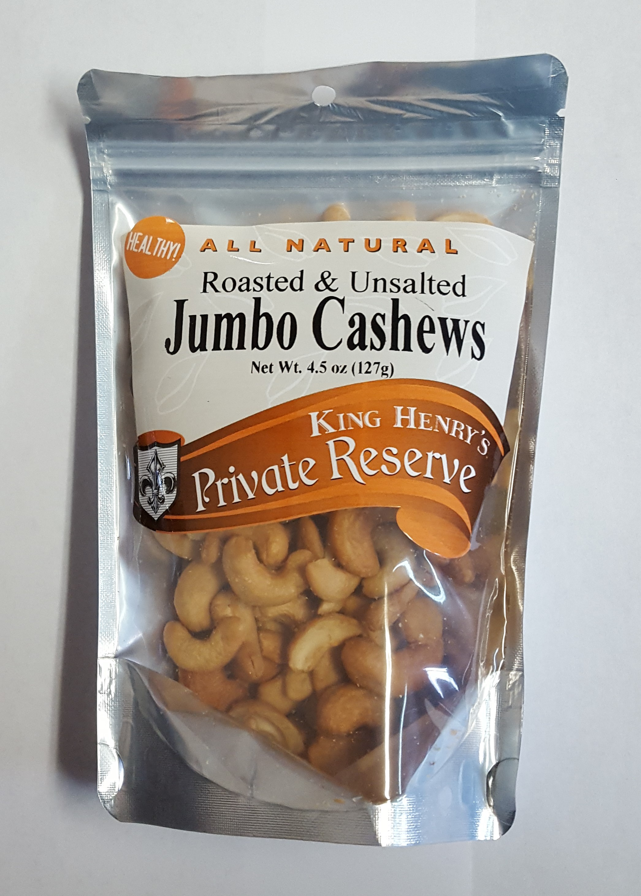 King Henry's Natural Unsalted Jumbo Cashew
