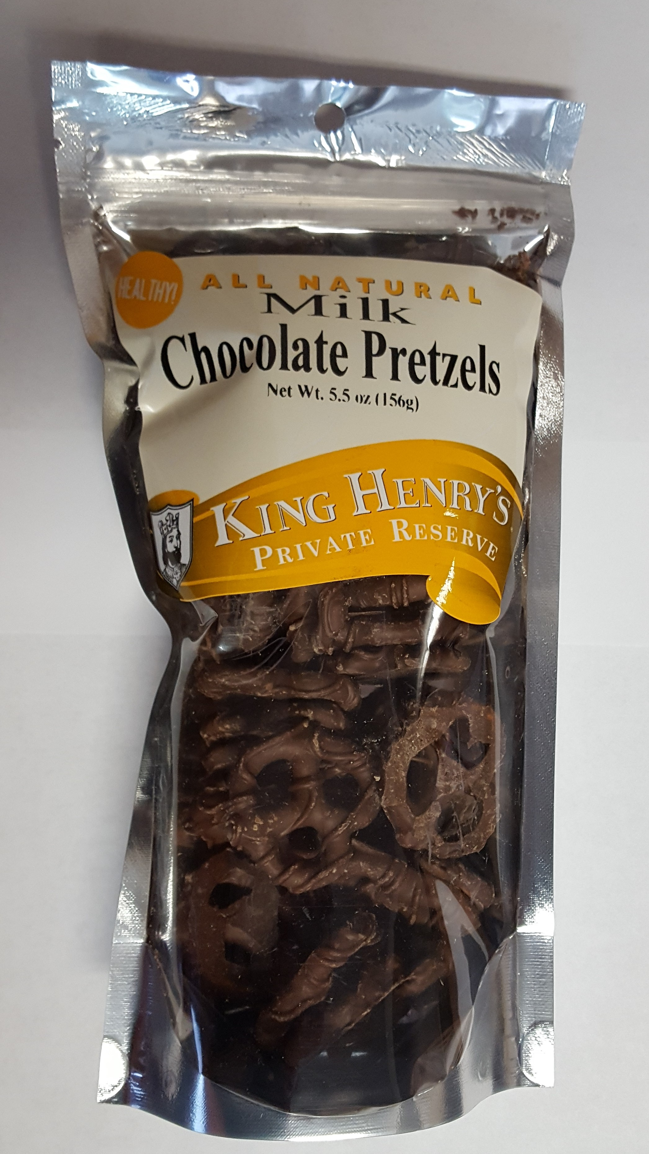 King Henry's Natural Milk Chocolate Pretzels