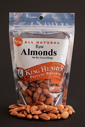 King Henry's Natural Raw Almonds